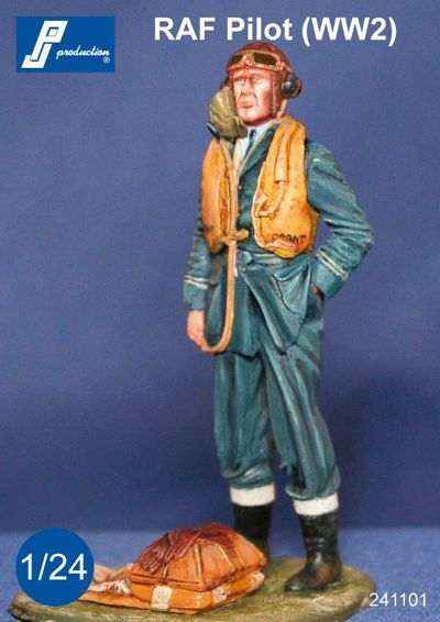PJ Productions 1/24 RAF Pilot WWII Standing # 241101