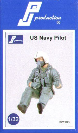PJ Productions 1/24 USN Pilot 1980/90's seated in aircraft # 321106