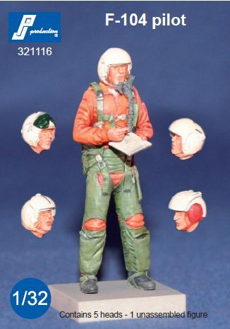 PJ Productions 1/32 Lockheed F-104 Pilot Standing 1 Multipose Figure # 321116