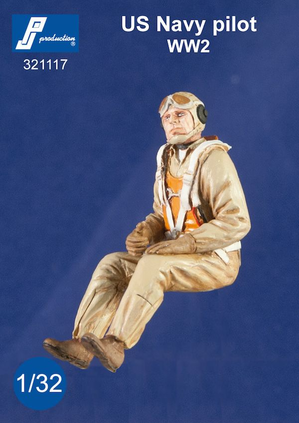 PJ Productions 1/32 U.S. Navy Pilot Seated in A/C (WWII) # 321117