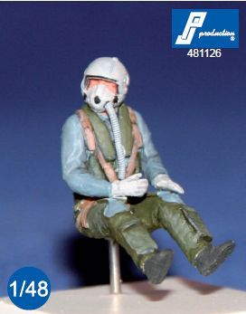 PJ Productions 1/48 German McDonnell F-4F Phantom II Pilot Seated in A/C # 481126