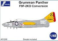 PJ Productions 1/48 Grumman F9F-2KD Panther Conversion # 481206