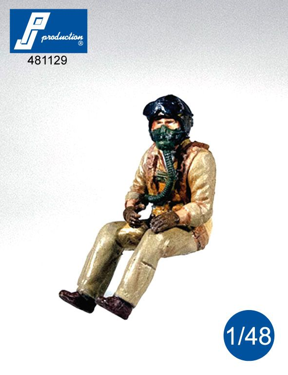 PJ Productions 1/48 U.S. Navy Pilot Seated in A/C (50s) # 481129