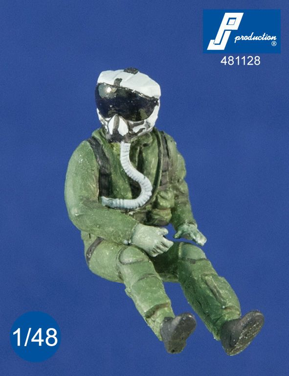PJ Productions 1/48 U.S. Pilot With JHMCS Helmet Seated In A/C # 481128