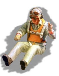 PJ Productions 1/48 WWII USN Fighter Pilot Seated in Aircraft # 481104