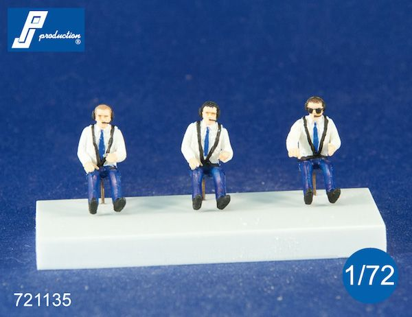 PJ Productions 1/72 Civilian Pilots Seated in A/C - 3 figures # 721135