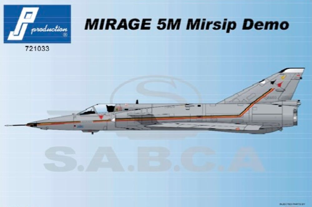 PJ Productions 1/72 Dassault Mirage 5M Mirsip Demo (BA60) # 721033