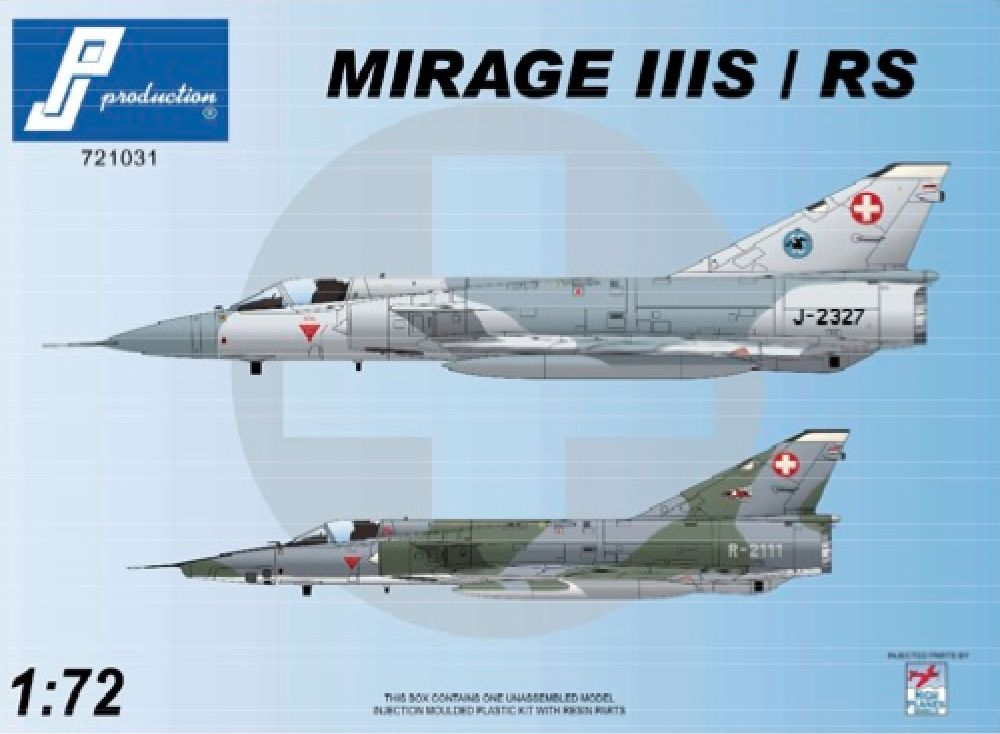 PJ Productions 1/72 Dassault Mirage IIIS/RS (Swiss) # 721031
