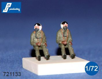 PJ Productions 1/72 NATO Pilots Seated in A/C 60's # 721133
