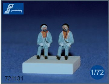 PJ Productions 1/72 RAF Pilots Seated in A/C 1960's # 721131