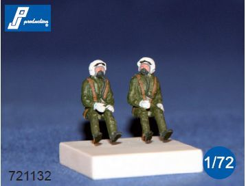 PJ Productions 1/72 RAF Pilots Seated in A/C 70's # 721132