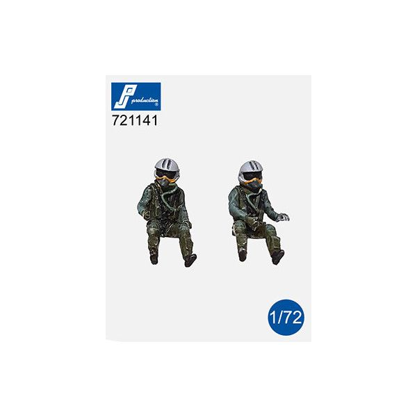 PJ Productions 1/72 Rafale Pilots Seated (2 figures) # 721141