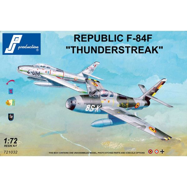 "PJ Productions 1/72 Republic F-84F ""Thunderstreak"" # 721032"