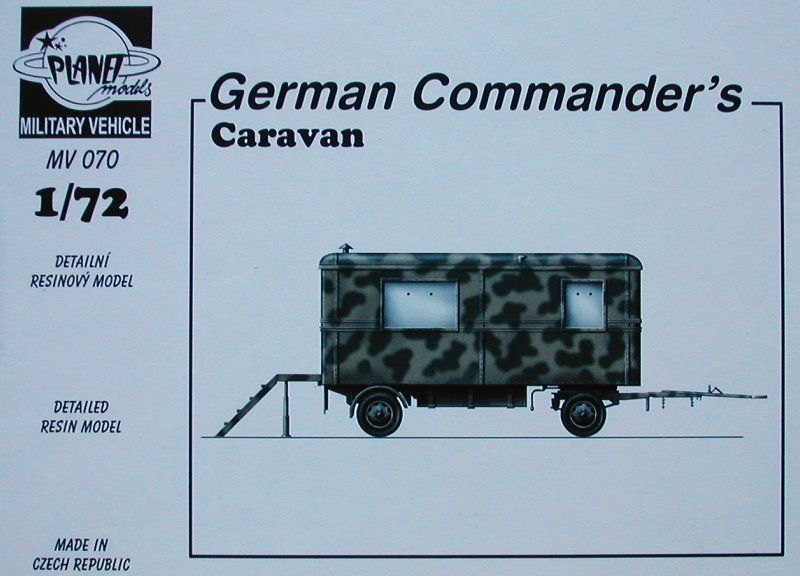 Planet 1/72 German Commander's Caravan # MV070