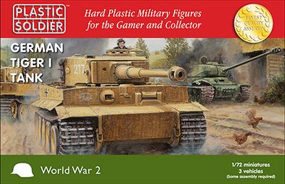 Plastic Soldier 1/72 German Tiger I Tanks # WW2V20032