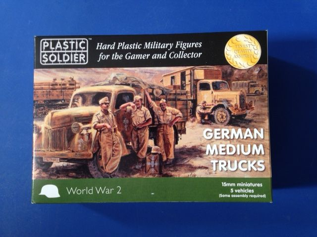 Plastic Soldier 15mm 15mm German Medium Trucks # WW2V15026