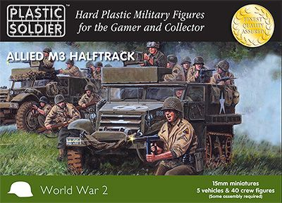 Plastic Soldier 15mm Allied M3 Halftrack # WW2V15016