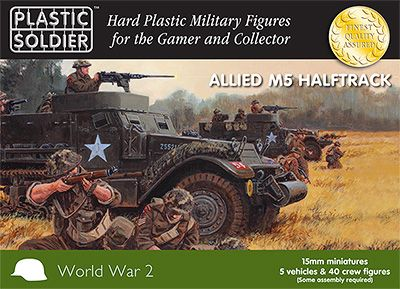 Plastic Soldier 15mm Allied M5 Halftrack # WW2V15020