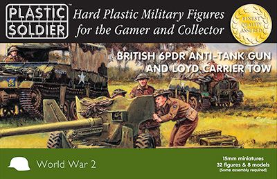 Plastic Soldier 15mm British 6PDR Anti-Tank Gun & Loyd Carrier T