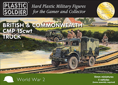 Plastic Soldier 15mm British & Commonwealth CMP 15cwt Truck # WW2V15030