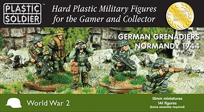 Plastic Soldier 15mm German Grenadiers in Normandy 1944 # WW2015011