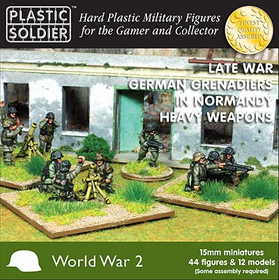 Plastic Soldier 15mm German Grenadiers in Normandy Heavy Weapons # WW2015012