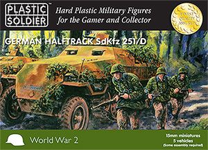 Plastic Soldier 15mm German Half Track Sd.Kfz. 251/D * 5 vehicles # WW2V15007
