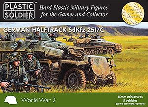Plastic Soldier 15mm German Halftrack SdKfz 251/C # WW2V15003