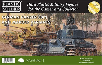Plastic Soldier 15mm German Panzer 38(t) & Marder Variants # WW2V15025