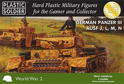 Plastic Soldier 15mm German Panzer III Ausf. J L M N # WW2V15010