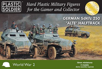 Plastic Soldier 15mm German SdKfz 250 Alte Halftrack # WW2V15028