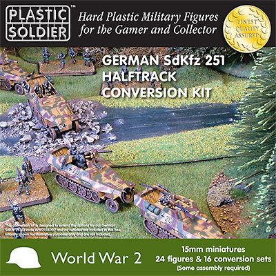Plastic Soldier 15mm German SdKfz 251 Halftrack Coversion Kit #