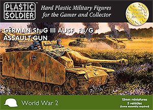 Plastic Soldier 15mm German StuG III Ausf. F8/G Assault Gun 5 Ve