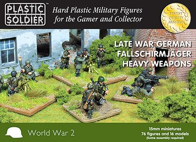 Plastic Soldier 15mm Late War German Fallschirmjager Heavy Weapons # WW2015014