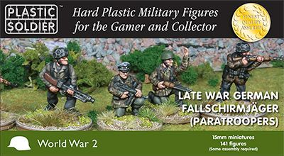 Plastic Soldier 15mm Late War German Fallschirmjager (Paratroopers) # WW2015013