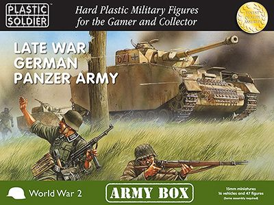 Plastic Soldier 15mm Late War German Panzer Army - Army Box # PSCAB15001
