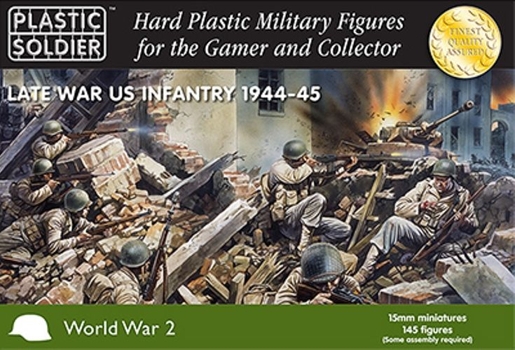 Plastic Soldier 15mm Late War US Infantry 1944-45 # WW2015006