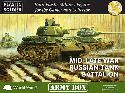 Plastic Soldier 15mm Mid-Late War Russian Tank Battalion Army Bo
