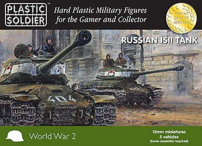 Plastic Soldier 15mm Russian ISII Tank # WW2V15024