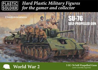 Plastic Soldier 15mm Russian SU-76 Self-Propelled Gun # WW2V15036