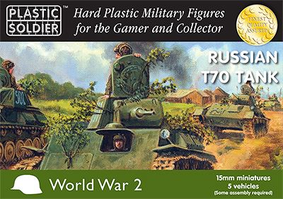 Plastic Soldier 15mm Russian T70 Tank # WW2V15019