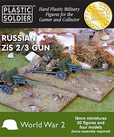 Plastic Soldier 15mm Russian ZiS 2/3 Gun # WW2G15002