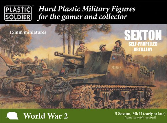 Plastic Soldier 15mm Sexton Self-Propelled Artillery # WW2V15035