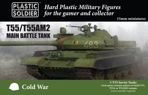 Plastic Soldier 15mm T55/T55AM2 Main Battle Tank # MODV15001