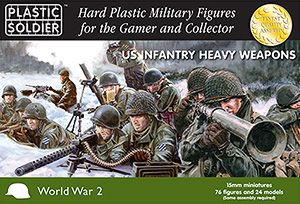 Plastic Soldier 15mm US Infantry Heavy Weapons # WW2015007