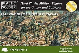 Plastic Soldier 15mm WWII German Infantry 1943-45 # WW2015002