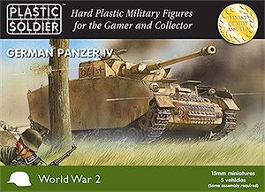 Plastic Soldier 15mm WWII German Panzer IV # WW2V15002