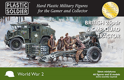 Plastic Solider 15mm British 25pdr & CMP Quad Tractor # WW2G15006