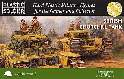 Plastic Solider 15mm WWII British Churchill Tank # WW2V15023