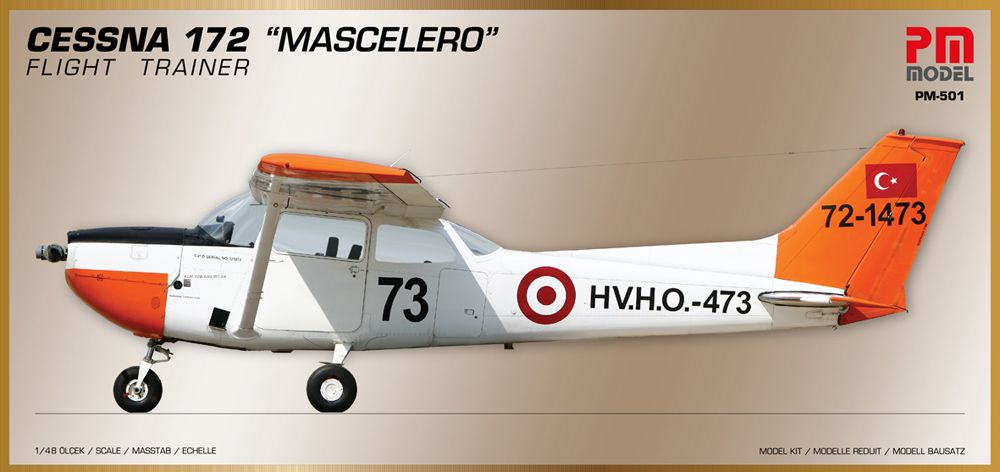"PM Model 1/48 Cessna 172 ""Mascelero"" Flight Trainer # 501"